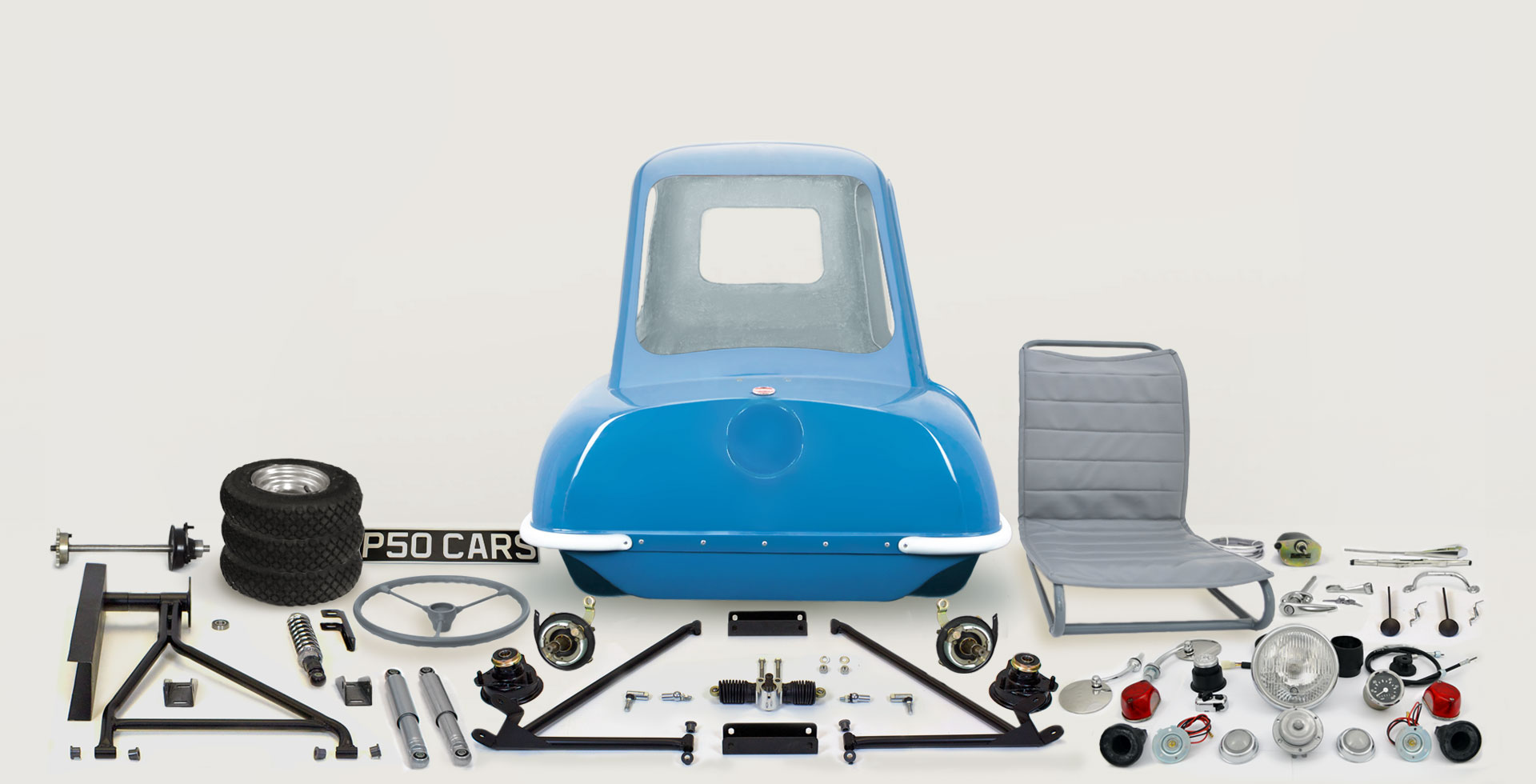 P50-Car-Replica-Kit-Parts-Spares-1962-Blue Isle of Man