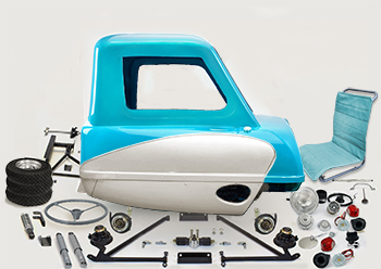 P.50 Kit reproduction replica peel p50 mk1 isle of man top gear capri blue GT125 55 mph