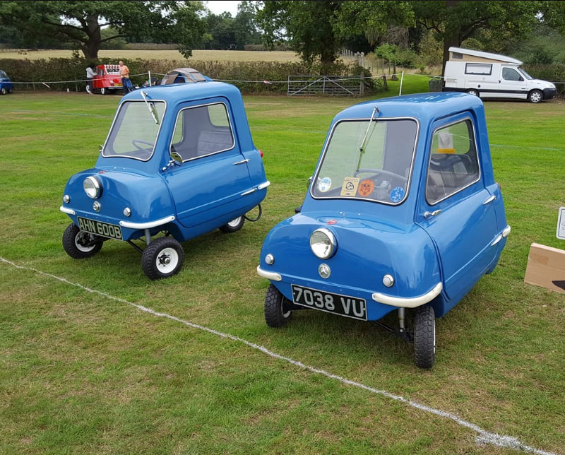 Original Peel P50 with a P50cars.com P.50 Isle of Man Top Gear Blue